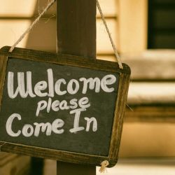 Welcome Come In Sign
