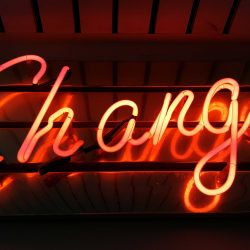 Neon Change Sign