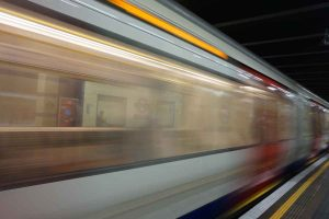 Blurred Motion Of Train At Railroad Station 312848