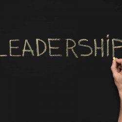 Word Leadership Written With White Chalk On Xpcsgkz