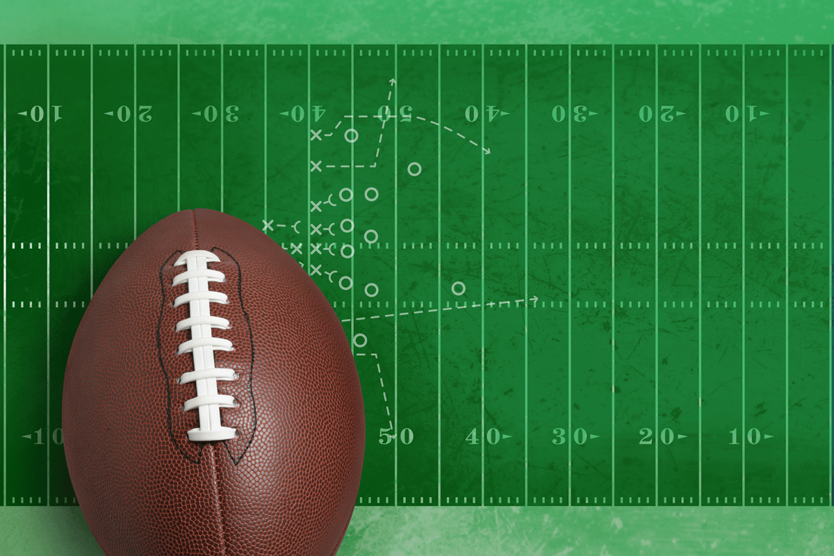Football On A Playing Field With Diagram Pq4lv47